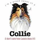 Collie Funny T Shirt 7 X Large to 14 X Large Pick Your Size
