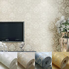 10M LUXURY DESIGNED DAMASK EMBOSSED FLOCKED TEXTURED NON-WOVEN WALLPAPER ROLL