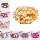 Toddler Baby Bloomers Panties Girls Bowknot Tutu Ruffle Nappy Diaper Cover 3-24M