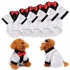 Dog Pet Tie Suit Clothes Puppy Shirt Wedding Tuxedo Outfit White Xmas Gift