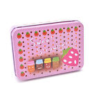 Mini Tin Metal Container Small Rectangle Lovely Storage Box Case Pattern JR