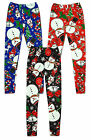 Girls Older Christmas Snowman Rudolph Xmas Tree Print Leggings 2 to 13 Years