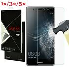 5Pc 9H Premium Tempered Glass Film Cover Screen Protector For Huawei P8 P9 P10