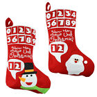 DELUXE ADVENT CHRISTMAS SANTA SACK RED STOCKING BAG GIFT PRESENTS XMAS TOY UK