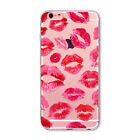 3D Cartoon Silicone TPU Sexy Red Lip Kiss Case Cover for iPhone 5/6S/SE/7 Plus