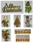 Mini Christmas Cake Decorations (Picks/Santa Topper/Figures/Xmas/Snowman)