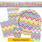 RAINBOW CHEVRON TABLEWARE {Unique} (Party/Decoration/Kids/Birthday)