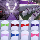 13 Color Spandex Stretch Wedding Party Chair Cover Band Sashes Buckle Bow Slider