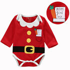 Newborn Baby Boy Girls Infant Chirstmas Romper Jumpsuit Tracksuit Clothes Outfit