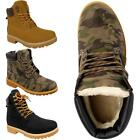 Womens Ladies Fur Lined Warm Comfort Winter Lace Up Ankle Boots Trainers Shoes