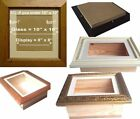 """3D Box Frame DEPTH 2.5"""" INCH  Picture Shadow Display Case Medals casts"""