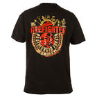 """FIREFIGHTER T-SHIRT """"FIREFIGHTER BROTHERHOOD FORGED BY FIRE"""" CASUAL WEARS BLACK"""