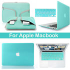 Hard Rubberized Case Keyboard Cover Carry Bag Set fr Macbook Air 13/11 Pro 15/13