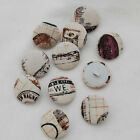 Fabric Covered Buttons - 10 Count - Vintage Sewing Hobby - 14mm / 19mm / 28mm
