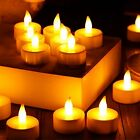 LED FLAMELESS CANDLES FLICKERING TEA LIGHT CANDLES BATTERY TEALIGHTS