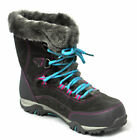 Hi-Tec Ladies Womens Fur Lined Leather Insulated Waterproof Snow Walking Boots