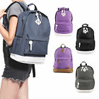 Men Women Vintage Retro Rucksack Backpack School College Travel Book Laptop Bag