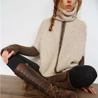 New Women Winter Sweater Turtleneck Long Sleeve Knitted Loose Pullover Outwear
