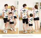 Women Men Kids COUPLE cotton printed summer holidays vacation T shirt Tees TN53