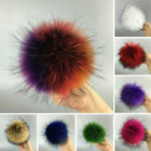 Fashion Raccoon Fur Cap Hats Big Pom Ball Winter for Leather Shoes Accessories
