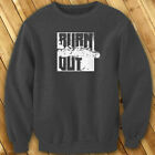 BURN OUT STREET RACING CAR DRIFTING FAST SPEED Mens Charcoal Sweatshirt