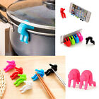 2pcs Spoon Rest Pot Clip Anti-overflow Men Design Gadget Mount Holder Silicone