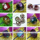 10pcs Faceted Murano Lampwork Glass Foil Flower Loose Beads Jewelry Craft DIY