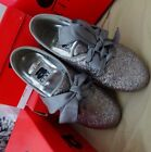 NEW a Line ALINE Sparkly Silver Gray Ribbon Lace Up Shoes