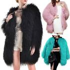 Faux Women's MONGOLIAN Lamb Fur Long Coat Smooth Jacket Winter Warm Outerwear