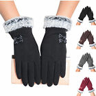 Women Winter Gloves Touch Screen Warm Gloves Outdoor Driving Gloves Mittens t99