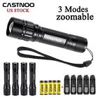 1-10set 6000LM CREE T6 LED Zoomable Flashlight Torch +18650 Battery +Charger MT