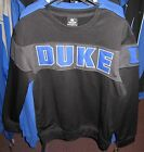 Duke Blue Devils NCAA Black Crew Neck Pullover Sweatshirt - Free Ship - New