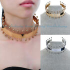 Fashion Jewelry Gold Silver Punk Chain Choker Statement Bib Gothic Necklace New