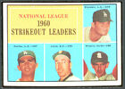 1961 Topps #49 NL Strikeout Leaders Don Drysdale EX+ 96648