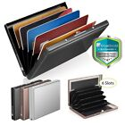 RFID Blocking Credit Card ID Holder Slim Money Travel Wallet Men Stainless Steel image