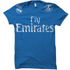 Real Madrid Fly Emirates Sponsored Team Cristiano Ronaldo Soccer Jersey T-Shirt