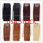 "USA STOCK! 16"" remy ponytail clip in human hair extensions 80g"