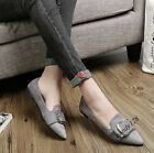 2017 Spring New Fashion Womens Faux Suede Leather Pointed Toe Casual Shoes Flats