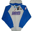 New York Giants NFL Big & Tall Team Apparel Full Zip Hoodie - Gray/Blue - NWT