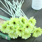 10 Heads Artificial Silk Gerbera Daisy Wedding Party Artificial Flower Decor US