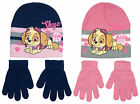 Girls Paw Patrol Puppy Dog Knit Beanie Hat Gloves 3 - 12 Years CLEARANCE SALE
