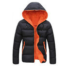 Men's Slim Casual Warm Jacket Hooded Winter Thick Coat Parka Overcoat Hoodie US