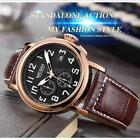 Megir Men Army Quartz Watch Luminous Pointer Date Genuine Leather Band 2031 L3a4