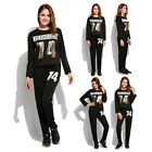 Womens 2Pcs Hoodies Sweatshirt Pants Set Casual Tracksuit Jogging Gym Sport Suit