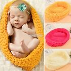 Newborn Baby Infant Photography Photo Prop Knit Crochet Costume Sleeping Bag
