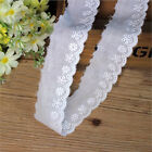1/3/5 Yards Embroidered Flower Cotton Lace Edge Trim Dress Sewing Fabic Craft