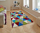Hong Kong Bright Triangle Design Rug Hand Tufted 100% Acrylic Home Décor Mat