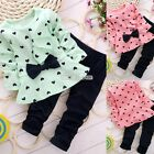 Girls Baby Kids Clothes 2PCS Set Top + Leggings Toddler Outfit Costume 2-4 Years