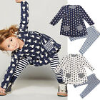 1Set Fashion Kids Baby Girls Toddler Bunny Shirt Dress+Leggings Outfit Clothes