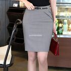 Lady Pencil Skirt Stretch Straight Dress OL High Waist Hot Sale Elegant EN24H